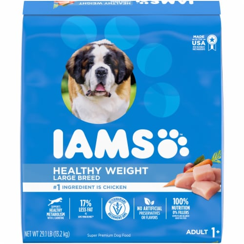 IAMS Healthy Weight Real Chicken Large Breed Dry Adult Dog Food Perspective: front