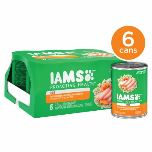 IAMS Proactive Health with Chicken and Whole Grain Rice Pate Wet Dog Food Multipack Perspective: front