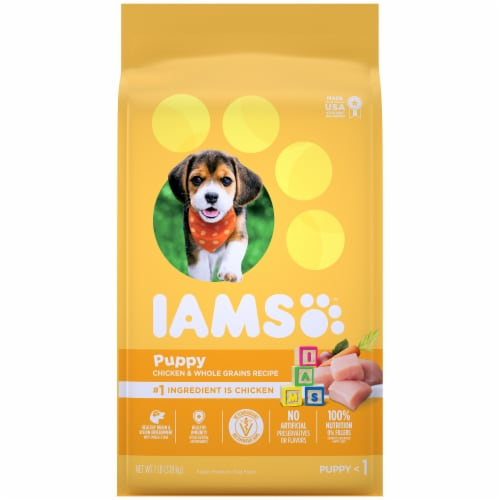 IAMS ProActive Health Smart Puppy Chicken Dry Dog Food Perspective: front
