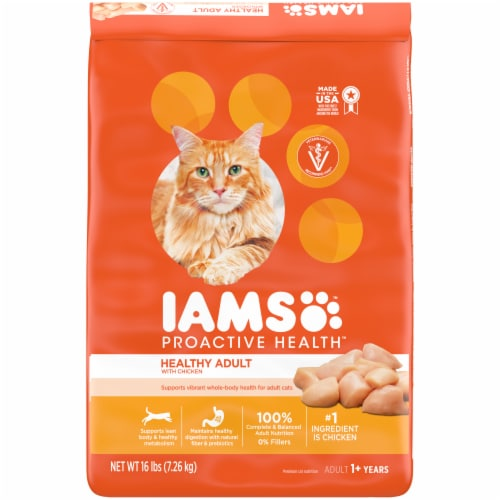 IAMS ProActive Health with Chicken Healthy Adult Dry Cat Food Perspective: front