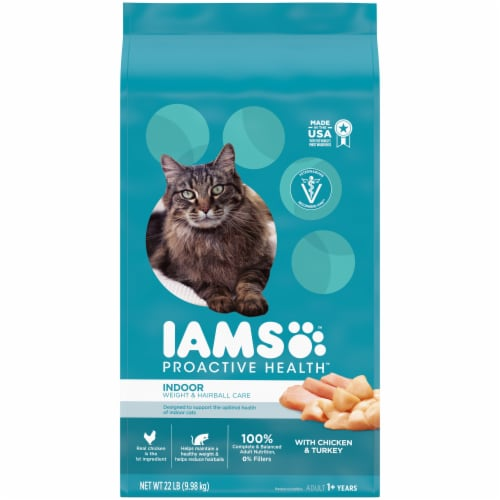 IAMS Proactive Health Indoor Weight & Hairball Care Dry Cat Food Perspective: front