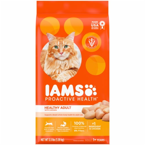 IAMS Proactive Health Healthy Adult with Chicken Dry Cat Food Perspective: front