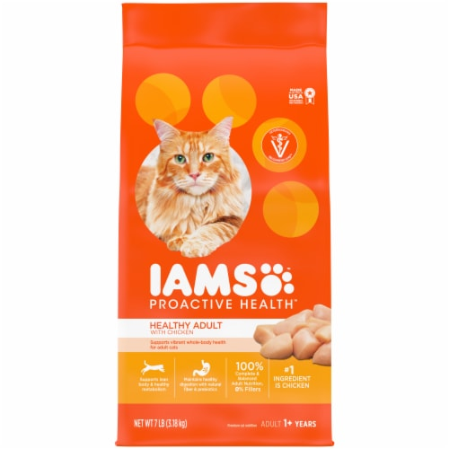 IAMS Proactive Health Healthy Adult with Chicken Cat Food Perspective: front