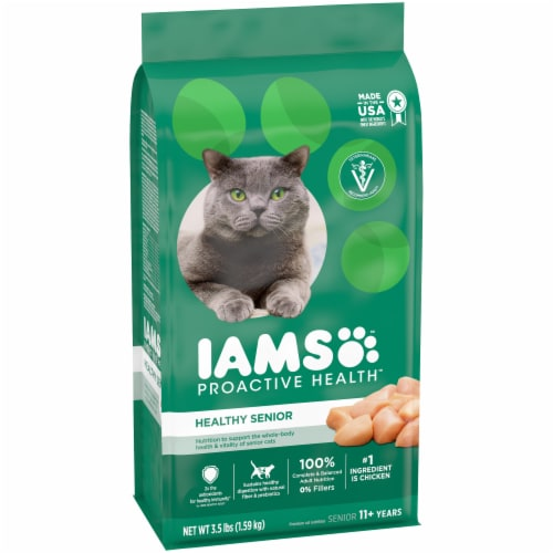 IAMS Proactive Health Healthy Senior Chicken Dry Cat Food Perspective: front