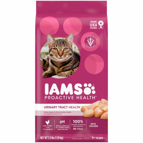 IAMS Proactive Heath Urinary Tract Health with Chicken Adult Cat Food Perspective: front