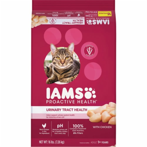 Iams 16# Urnry Chkn Cat Food 109109 Perspective: front
