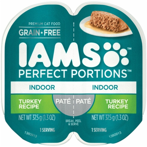 IAMS Perfect Portions Turkey Recipe Pate Indoor Wet Cat Food Perspective: front