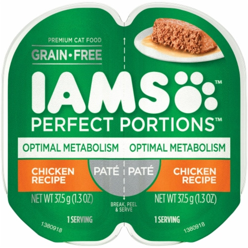 Iams 2.6oz Opmt Chkn Cat Food 109047 Perspective: front