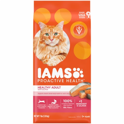 IAMS Proactive Health Salmon Adult Cat Food Perspective: front