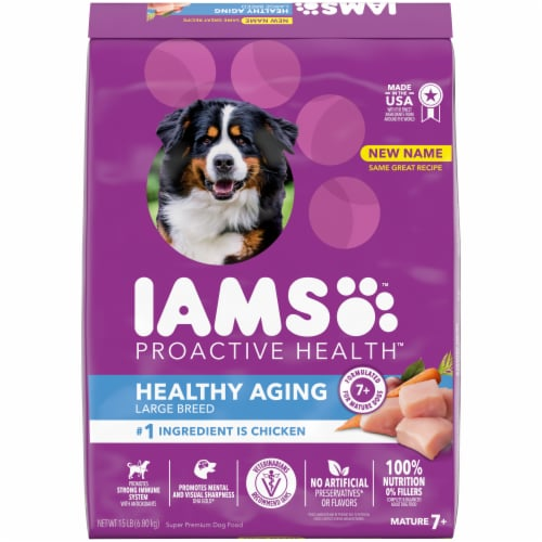 IAMS Proactive Health Mature Adult Large Breed Chicken Recipe Dry Dog Food Perspective: front