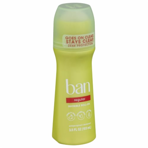 Ban Regular Roll-On Antiperspirant and Deodorant Perspective: front