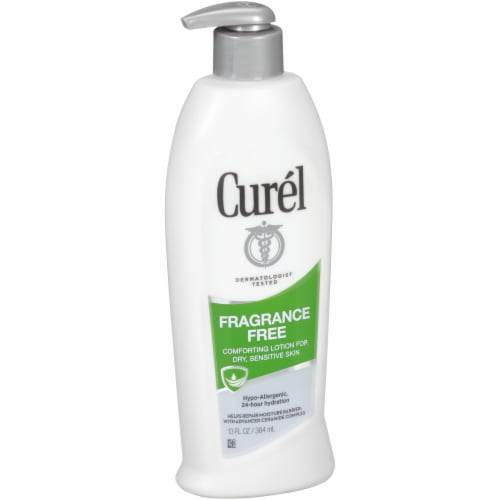 Curel Fragrance Free Comforting for Dry Sensitive Skin Lotion Perspective: front