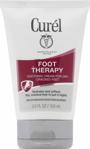 Curel Foot Therapy for Dry Cracked Feet Soothing Cream Perspective: front