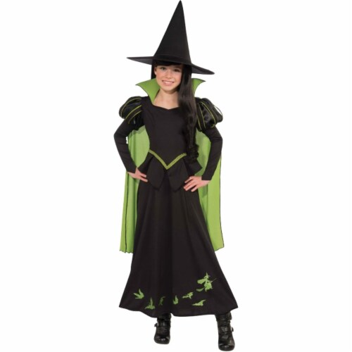 Morris Costumes RU886489LG Wizard Oz Wicked Witch Child Costume, Large Perspective: front