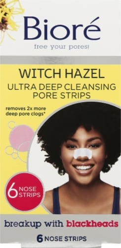 Biore Witch Hazel Ultra Deep Cleansing Pore Strips Perspective: front