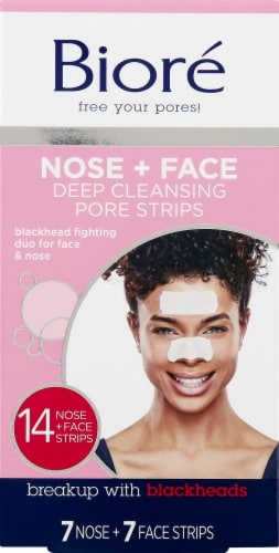 Biore Deep Cleansing Nose & Face Pore Strips Perspective: front