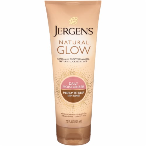 Jergens Natural Glow Medium to Tan Daily Moisturizer Perspective: front