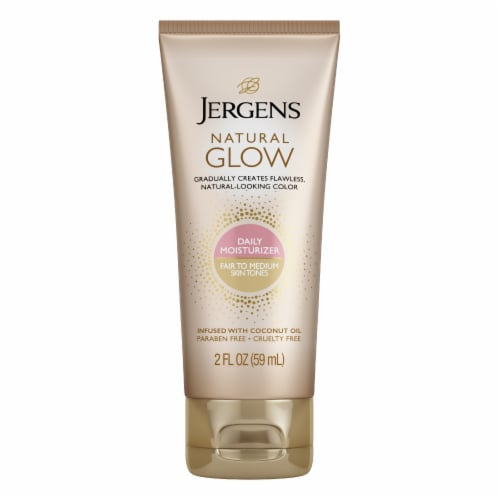 Jergens Natural Glow Fair to Medium Daily Moisturizer Perspective: front