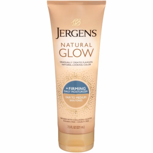 Jergens Natural Glow Fair to Medium Daily + Firming Lotion Daily Moisturizer Perspective: front