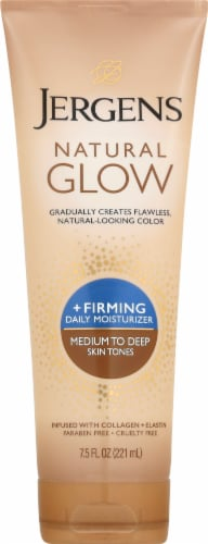Jergens Natural Glow + Firming Medium to Tan Daily Moisturizer Perspective: front