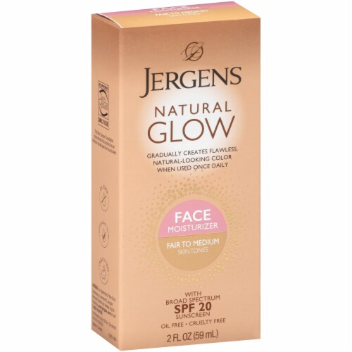 Jergens Natural Glow Fair to Medium SPF 20 Daily Moisturizer Perspective: front