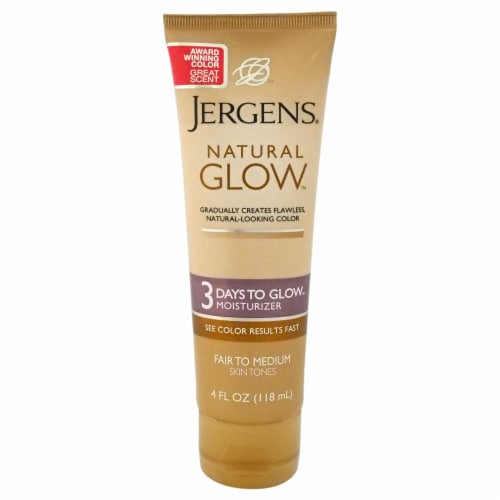 Jergens Natural Glow for Fair to Medium Skin Tones  Moisturize Perspective: front