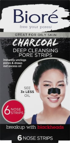 Biore Deep Cleansing Charcoal Pore Strips Perspective: front