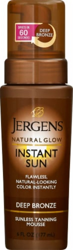 Jergens Natural Glow Deep Bronze Instant Sun Moisturizing Mousse Perspective: front
