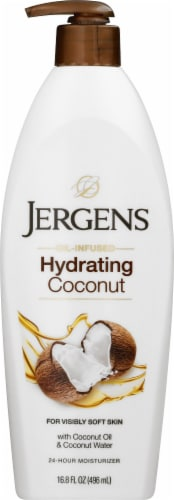 Jergens Hydrating Coconut Dry Skin Moisturizer Perspective: front