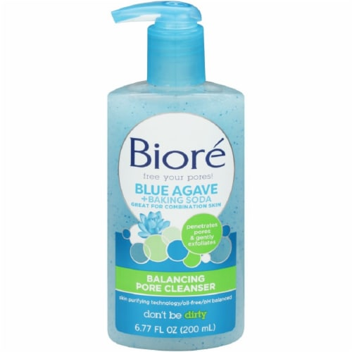 Biore Blue Agave and Baking Soda Balancing Pore Cleanser Perspective: front