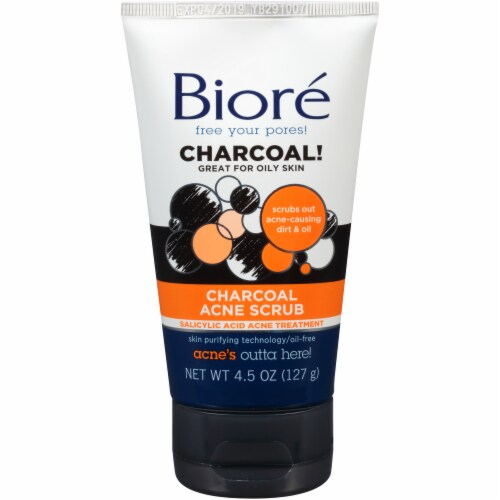Biore Charcoal Acne Scrub Perspective: front