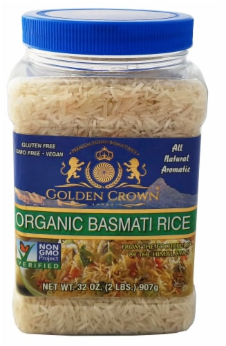 Golden Crown Organic Basmati Rice Perspective: front