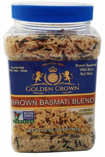 Golden Crown Brown Basmati Rice Blend Perspective: front