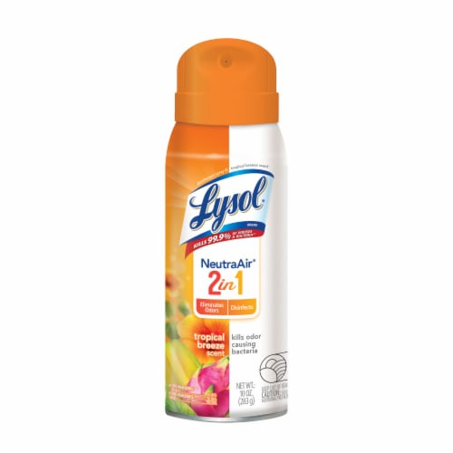 Lysol NeutraAir Tropical Breeze Disinfectant Spray Perspective: front