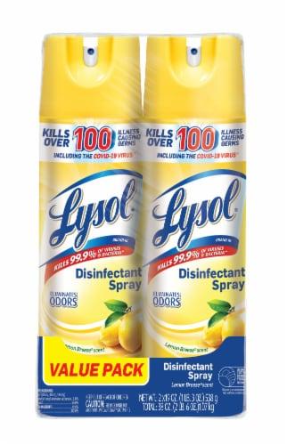 Lysol Lemon Breeze Disinfectant Spray Perspective: front