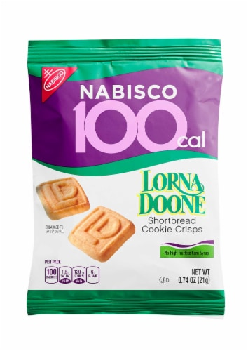 Kraft 100 Calorie Packs Lorna Doone Shortbread Cookie Crisps, 0.74 Ounce -- 72 per case. Perspective: front
