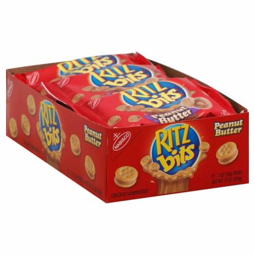 Kraft Ritz Bits Peanut Butter Sandwich Cracker, 1 Ounce -- 48 per case. Perspective: front
