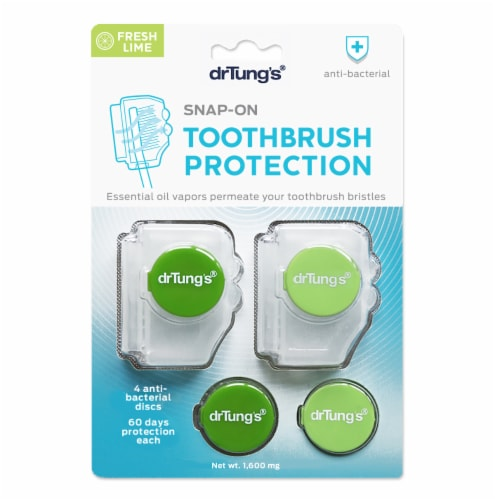 Dr. Tung's Snap-On Fresh Lime Aroma Toothbrush Sanitizer Perspective: front