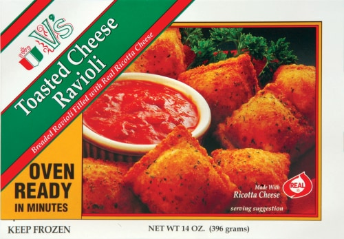 V's Toasted Cheese Ravioli Perspective: front