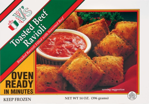 V's Toasted Beef Ravioli Perspective: front