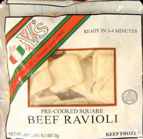 V's Beef Ravioli Perspective: front