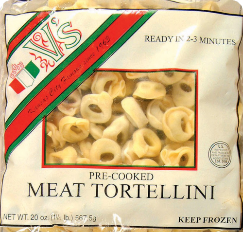 V's Pre-Cooked Meat Tortellini Perspective: front