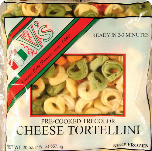 V's Pre-Cooked Tri Color Tortellini Perspective: front