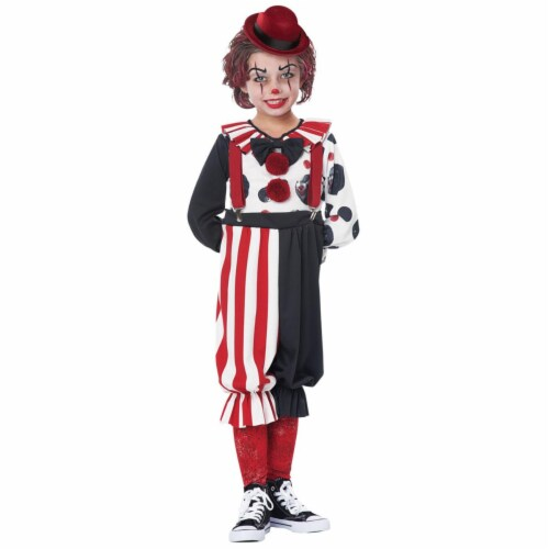Morris Costumes CC00189SM Kreepy Klown Kid Costume, Size 4-6 Perspective: front