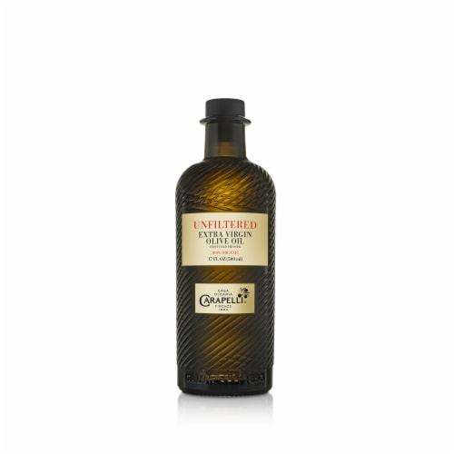 Carapelli Organic Unfiltered Extra Virgin Olive Oil Perspective: front