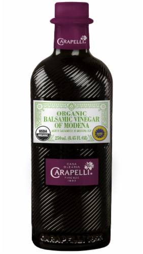 Carapelli Organic Balsamic Vinegar of Modena Perspective: front
