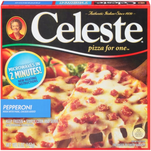 Celeste Pepperoni Pizza for One Perspective: front
