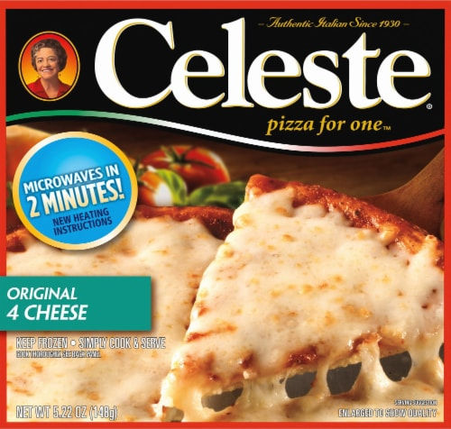 Celeste Original 4 Cheese Pizza for One Perspective: front