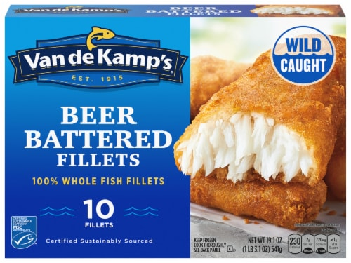 Van de Kamp's Beer Battered Whole Fillets Perspective: front