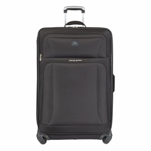 Skyway Epic Soft Side Spinner Check In Luggage - Black Perspective: front